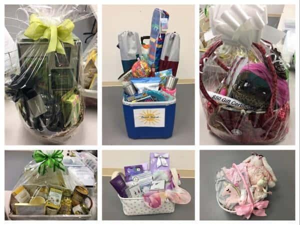 palette of colors silent auction baskets